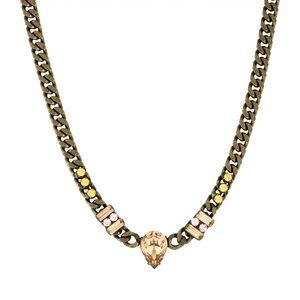 DANNIJO Gold Tone and Crystal Necklace